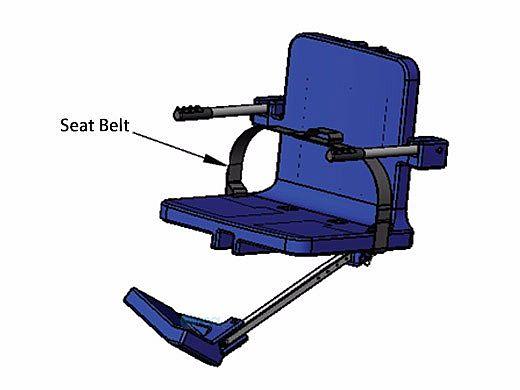AquaCreek ADA Lift Replacement Seat Belt   F-38SB