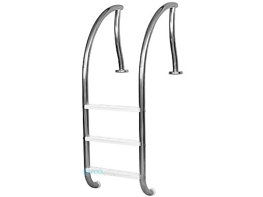 """Inter-Fab Designer Series 3 Step Ladder With White High Impact Plastic Treads 