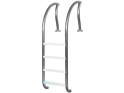 """Inter-Fab Designer Series 4 Step Ladder With White High Impact Plastic Treads 