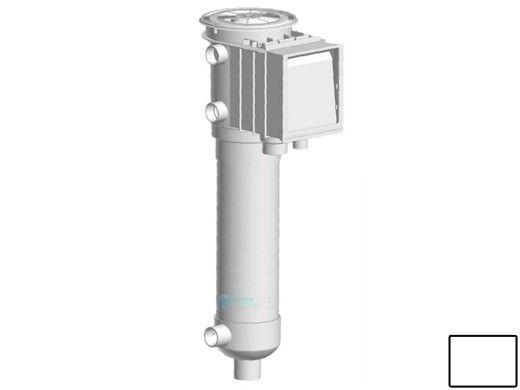 AquaStar ZarStar Skimmer with Large Basket, Filter Bag, Adjustable Collar, Lid and Ozonator Ports | White | SKZ101101