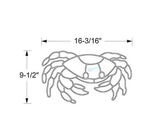 AquaStar Swim Designs Crab Pre-Filled Frame | F2003-01