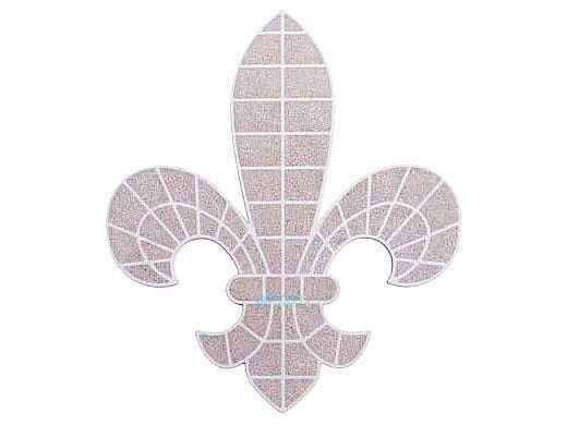 AquaStar Swim Designs Fleur De Lis Pre-Filled Frame | F2005-01