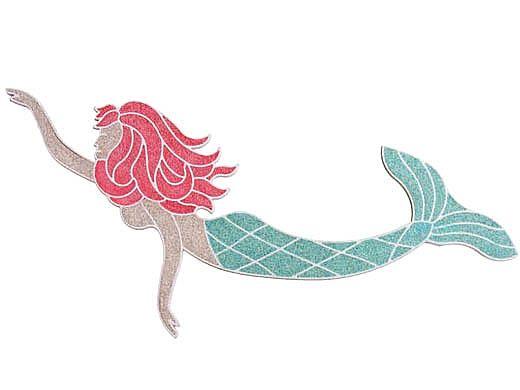 AquaStar Swim Designs Mermaid Pre-Filled Frame | F2007-01