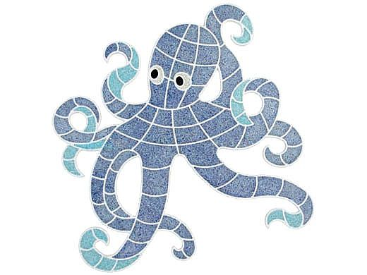 AquaStar Fillable Friends® Octopus Pre-Filled White Frame | F2008-01