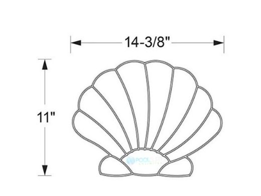 AquaStar Swim Designs Shell Pre-Filled Frame | F2011-01