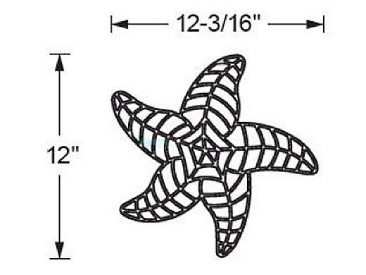 AquaStar Fillable Friends® Starfish Pre-Filled Frame | White | F2012-01