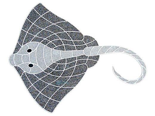 AquaStar Fillable Friends® Stingray Pre-Filled Frame | White | F2013-01