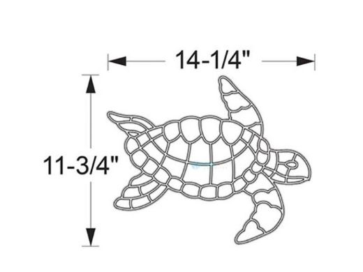 AquaStar Swim Designs Small Turtle Pre-Filled Frame | F2022-01
