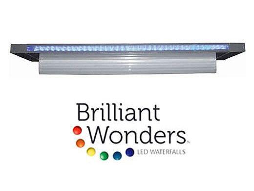 "Brilliant Wonders 72"" LED Waterfall Back Port | 6"" Lip | 100 Ft. Cord | White | 25677-630-000"