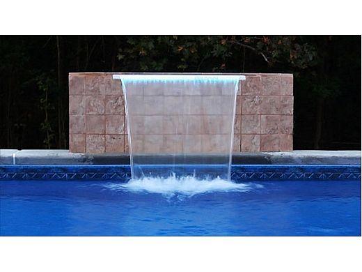 "Brilliant Wonders 96"" LED Waterfall Back Port | 6"" Lip | 100 Ft. Cord | White | 25677-830-000"
