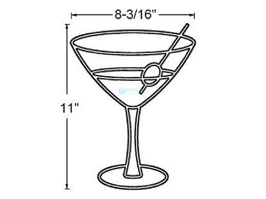 AquaStar Fillable Friends® Martini Glass Pre-Filled White Frame | F2025-01