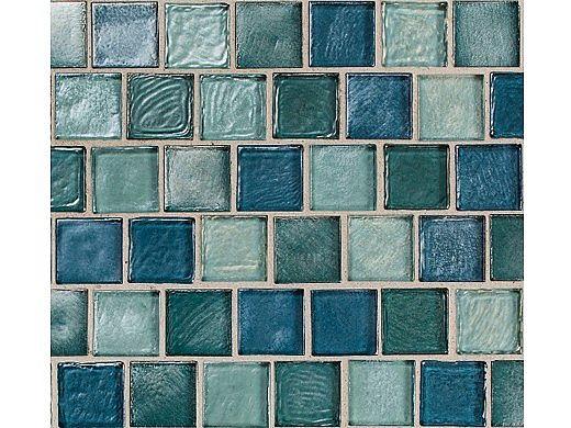 National Pool Tile Aquascapes 1x1 Glass Tile | Aquamarine | OCN-AQUAMARINE