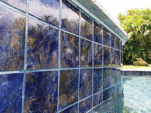 National Pool Tile Coral 6x6 Series Rustic Blue Crl Rustic
