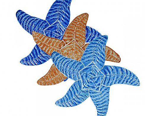 "Artistry In Mosaics Starfish Mosaic   Aqua - 9""   SFIAQUOS"