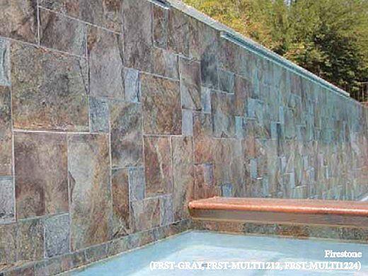 National Pool Tile Firestone 12X24 Series   Multi Color   FRST-MULTI1224
