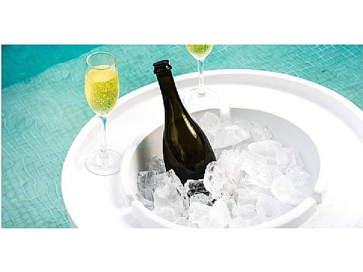 Ledge Lounger Signature Collection Ice Bin Side Table | Cloud | LL-SG-IB-CL