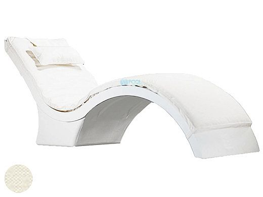 Ledge Lounger Signature Collection Chaise Deep Cushion with Pillow | Standard Fabric Oyster | LL-SG-CD-CP-STD-4642