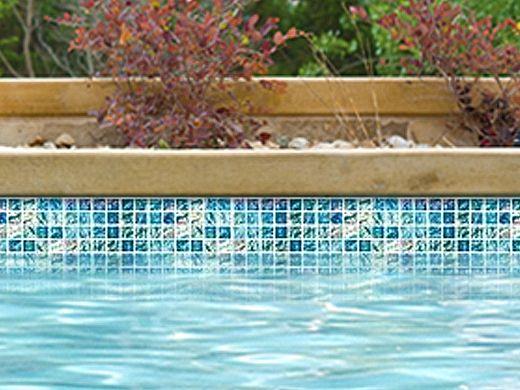 National Pool Tile Lightwaves Glass Tile | Aquamarine 1x1 | LWV-AQUAMARINE
