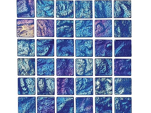 National Pool Tile Lightwaves Glass Tile | Blue 1x1 | LWV-BLUE