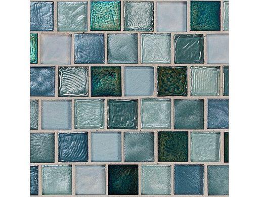National Pool Tile Aquascapes 1x1 Glass Tile | Marine | OCN-MARINE