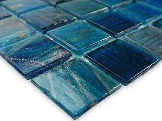 Artistry In Mosaics Venetian Series 3/4x3/4 Glass Tile | Blue Copper Blend | GV42020B7