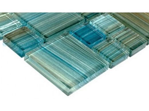 Artistry In Mosaics Watercolors Series Glass Tile | Aqua Mixed | GW8M2348T5