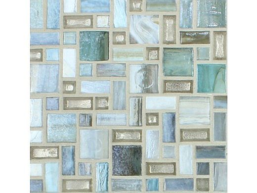 National Pool Tile Cosmopolitan Mosaic Glass Tile | Sky Blue | COS-VANCOUVER