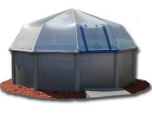 Fabrico Sun Dome All Vinyl Pool Dome for Doughboy & CaliMar® Above Ground Pools | 16' Round | SD1216 212010