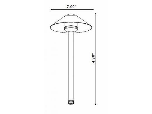 FX Luminaire | Crescente Alba Copper 20W Pathlight | CA-20-12R-CU | 58300