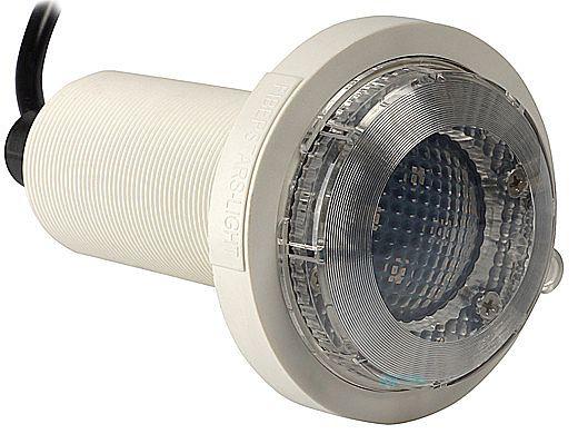 SR Smith Fiberglass White LED Underwater Pool Light | 5W 12V 30' Cord | FLED-W-FG-30