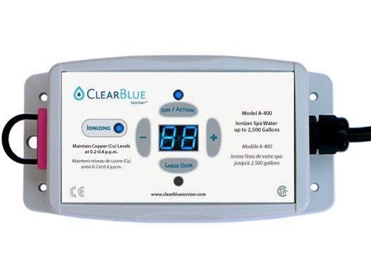 ClearBlue A-400 Ionizer for Spas | 120V NEMA Plug | 2,500 Gallons |  A-400NP120