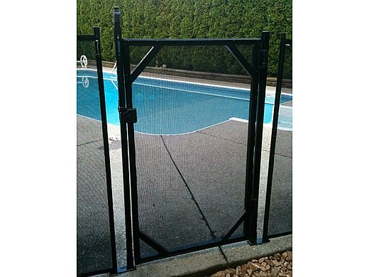 Water Warden Safety Pool Fence Self Closing Gate | 4\' Tall | Black | WWG201