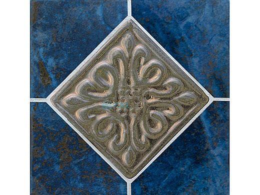 National Pool Tile Blue Seas 6x6 Deco | Rustic Blue | SEA-RUSTIC DECO