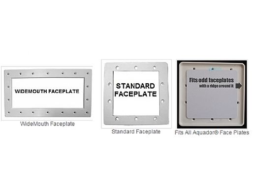 "SimPoolTec Inground Skimmer Plug | 13-1/2"" x 5-3/8"" | Widemouth Faceplate | IGWM-WWF"