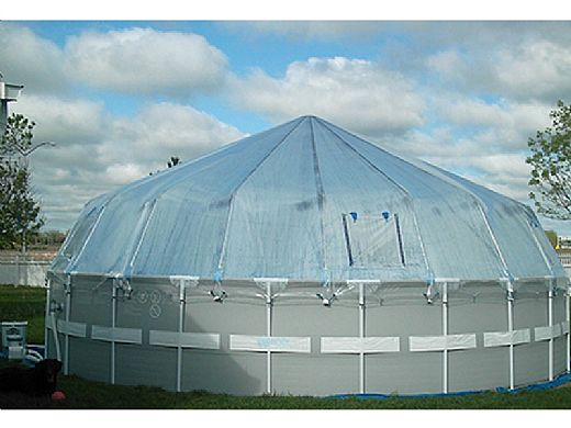 Fabrico Sun Dome All Vinyl Dome for Soft Sided Above Ground Pools | 18' x 30' Rectangle | 301480