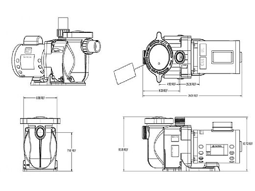 Pentair SuperFlo 3/4-HP Energy Efficient  2-Speed Pool Pump 115V | 341111