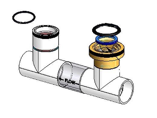 AquaPilot Manifold Bottom Portion for 941-215C-A    PLA0045