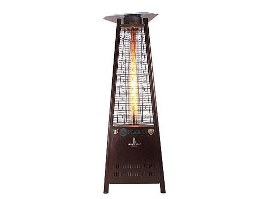 Lava Heat Italia© Capri A Line Commercial Patio Heater | Triangular 6 Foot  | Heritage Bronze Natural Gas | AL6MGB LHI 105