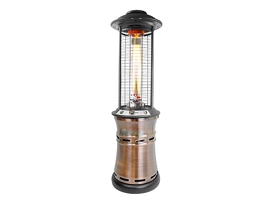 Lava Heat Italia© Commercial Patio Heater | Cylindrical Collapsible 6 Foot  | Brushed Copper Propane | LHI 110