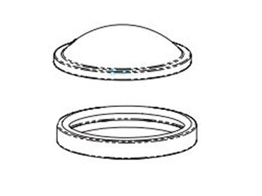 Pentair Intellibrite 5G LED Light Spa Light Lens and Gasket Aseembly   640046