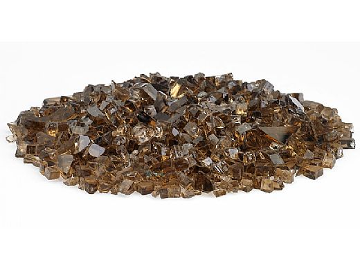American Fireglass One Fourth Inch Classic Collection | Copper Fire Glass | 10 Pound Jar | AFF-COP-J