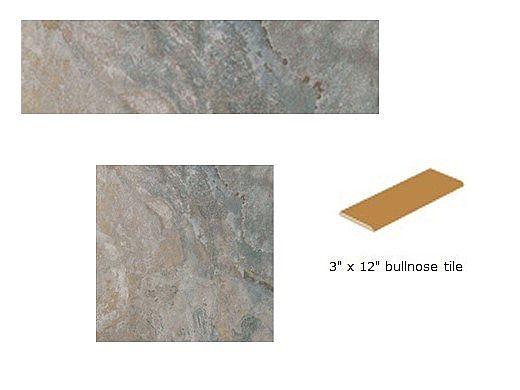 National Pool Tile Sierra 3x12 Single Bullnose | Blue Slate | SIERRA BSL SBN