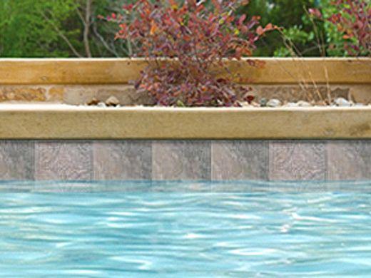 National Pool Tile Sierra 6x6 Deco   Blue Slate   Sierra BSL-DECO