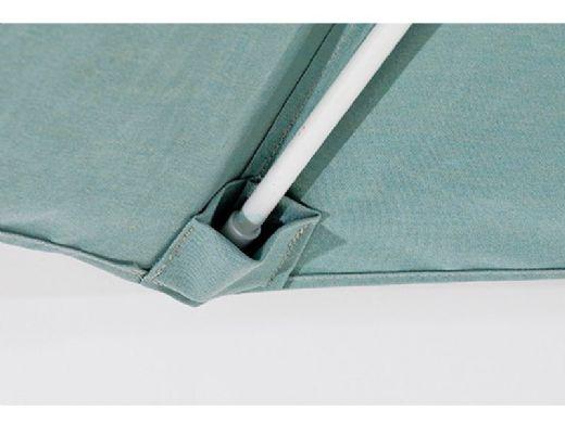 "Ledge Lounger Choice Umbrella | 6' Square 1.5"" White Pole | Standard Fabric Colors | LL-U-C-6SQPP-W-STD"