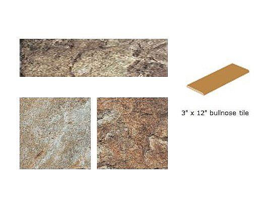 National Pool Tile Firestone 3x12 Bullnose Series Trim Tile | Multi | FRST-MULTI SBN