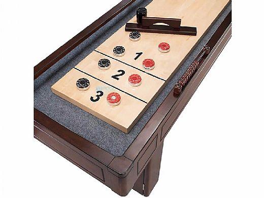 Hathaway Austin 9-Foot Shuffleboard Table   Mahogany Finish   NG1209 BG1209