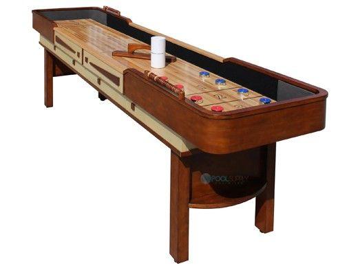 Hathaway Merlot Shuffleboard 9-Foot Table | Walnut | NG1305 BG1305