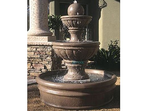 Water Scuppers and Bowls Mediterranean Garden Fountain | Sage Sandblasted | WSBMED