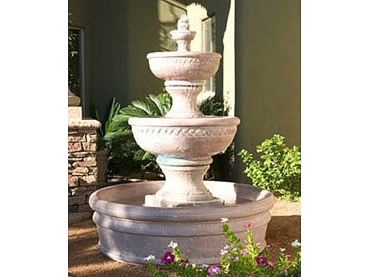 Water Scuppers and Bowls Monaco Fountain | Gray Smooth | WSBTROP