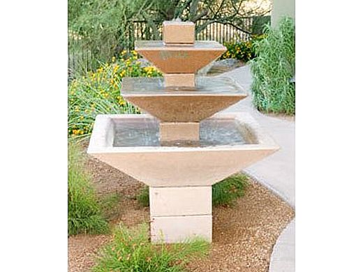 Water Scuppers and Bowls Riviera Water Fountain   Charcoal Smooth   WSBRIV